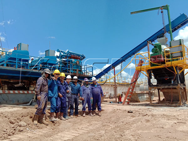 Argentina Solids control system and drilling waste management site